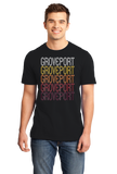 Standard Black Groveport, OH | Retro, Vintage Style Ohio Pride  T-shirt