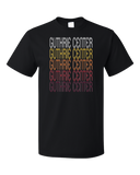 Standard Black Guthrie Center, IA | Retro, Vintage Style Iowa Pride  T-shirt