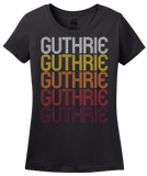Ladies Black Guthrie, KY | Retro, Vintage Style Kentucky Pride  T-shirt