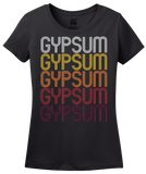 Ladies Black Gypsum, CO | Retro, Vintage Style Colorado Pride  T-shirt