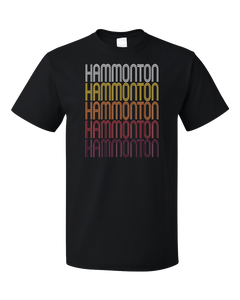 Standard Black Hammonton, NJ | Retro, Vintage Style New Jersey Pride  T-shirt