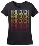 Ladies Black Hancock, MD | Retro, Vintage Style Maryland Pride  T-shirt