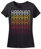 Ladies Black Harahan, LA | Retro, Vintage Style Louisiana Pride  T-shirt
