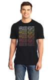 Standard Black Harwood Heights, IL | Retro, Vintage Style Illinois Pride  T-shirt