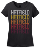 Ladies Black Hatfield, PA | Retro, Vintage Style Pennsylvania Pride  T-shirt