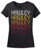 Ladies Black Hawley, PA | Retro, Vintage Style Pennsylvania Pride  T-shirt