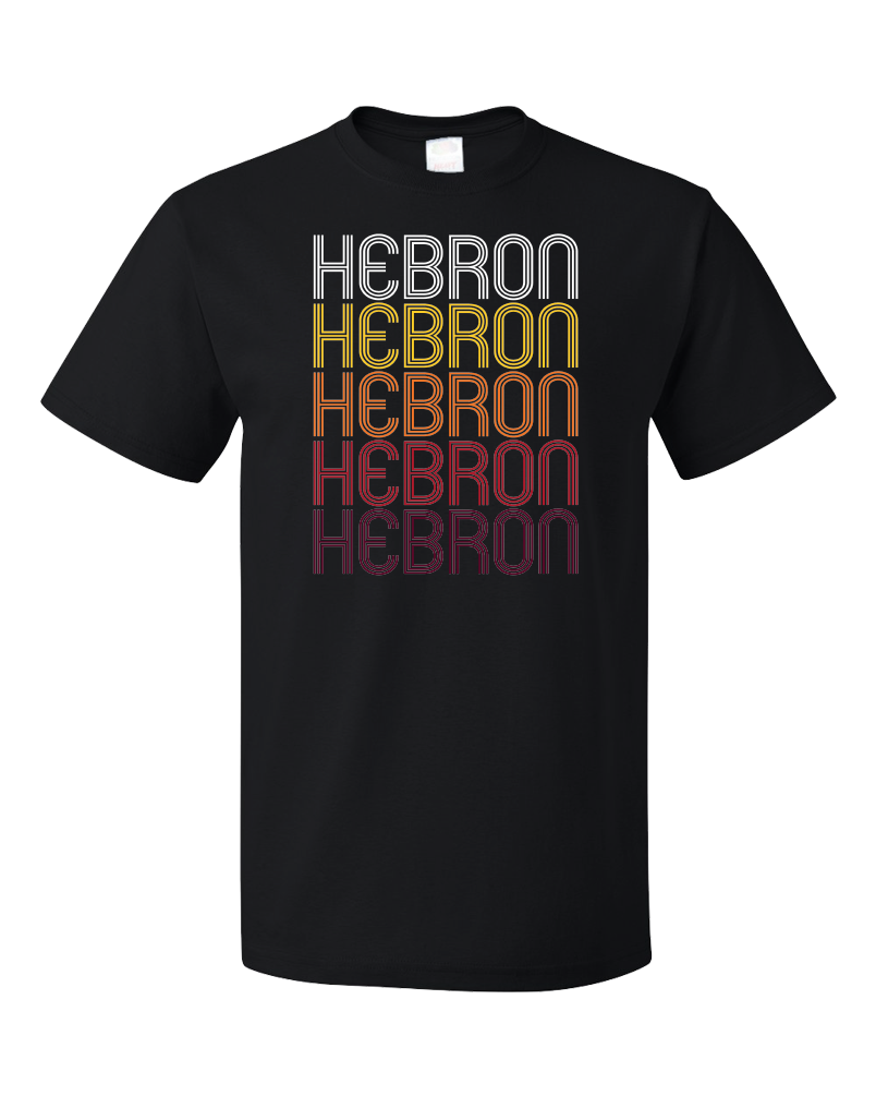 Standard Black Hebron, IN | Retro, Vintage Style Indiana Pride  T-shirt