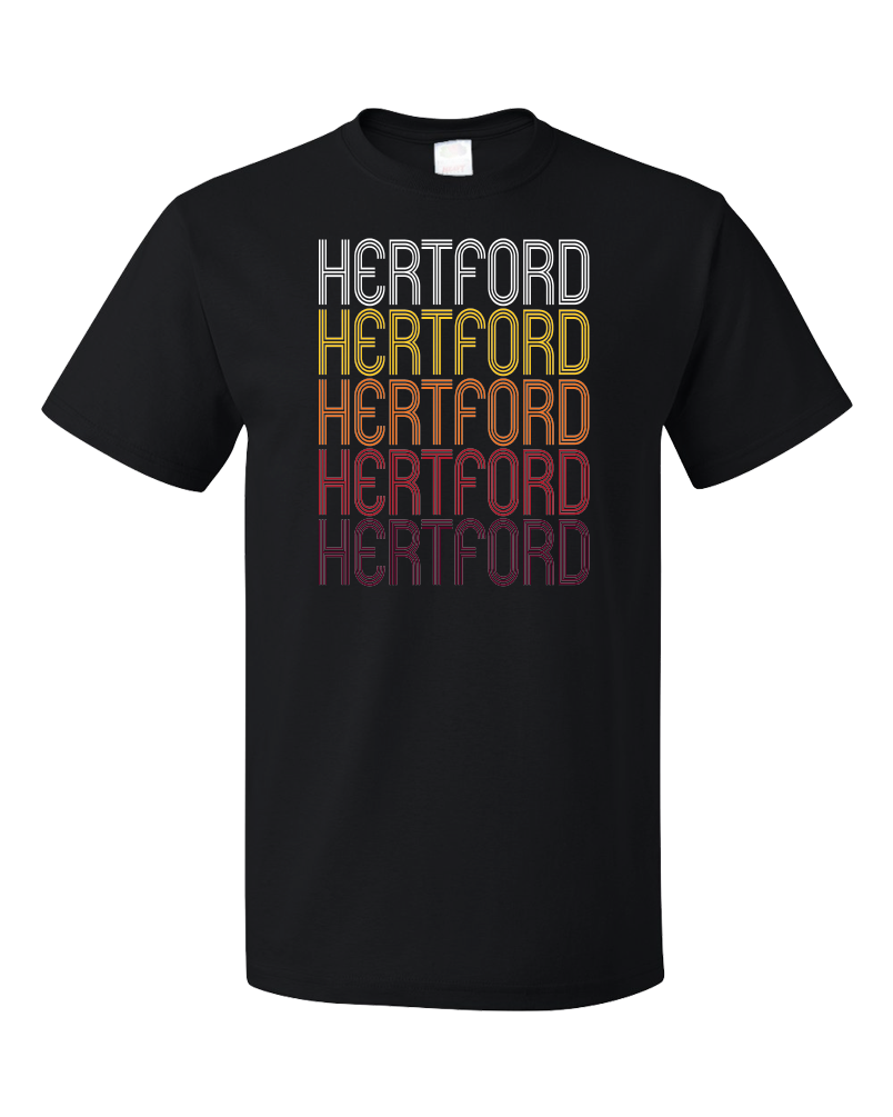 Standard Black Hertford, NC | Retro, Vintage Style North Carolina Pride  T-shirt
