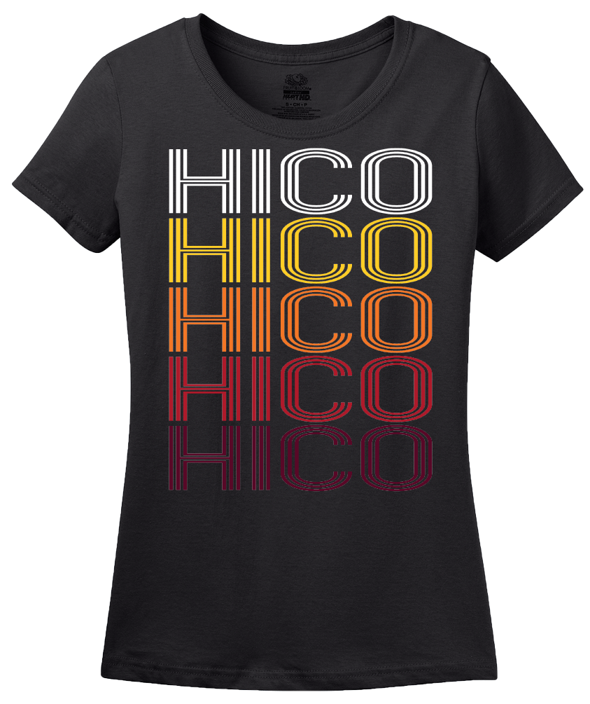 Ladies Black Hico, TX | Retro, Vintage Style Texas Pride  T-shirt