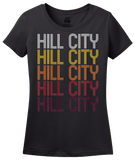 Ladies Black Hill City, KS | Retro, Vintage Style Kansas Pride  T-shirt