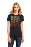 Ladies Black Hobart, IN | Retro, Vintage Style Indiana Pride  T-shirt