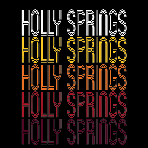 Holly Springs, NC | Retro, Vintage Style North Carolina Pride
