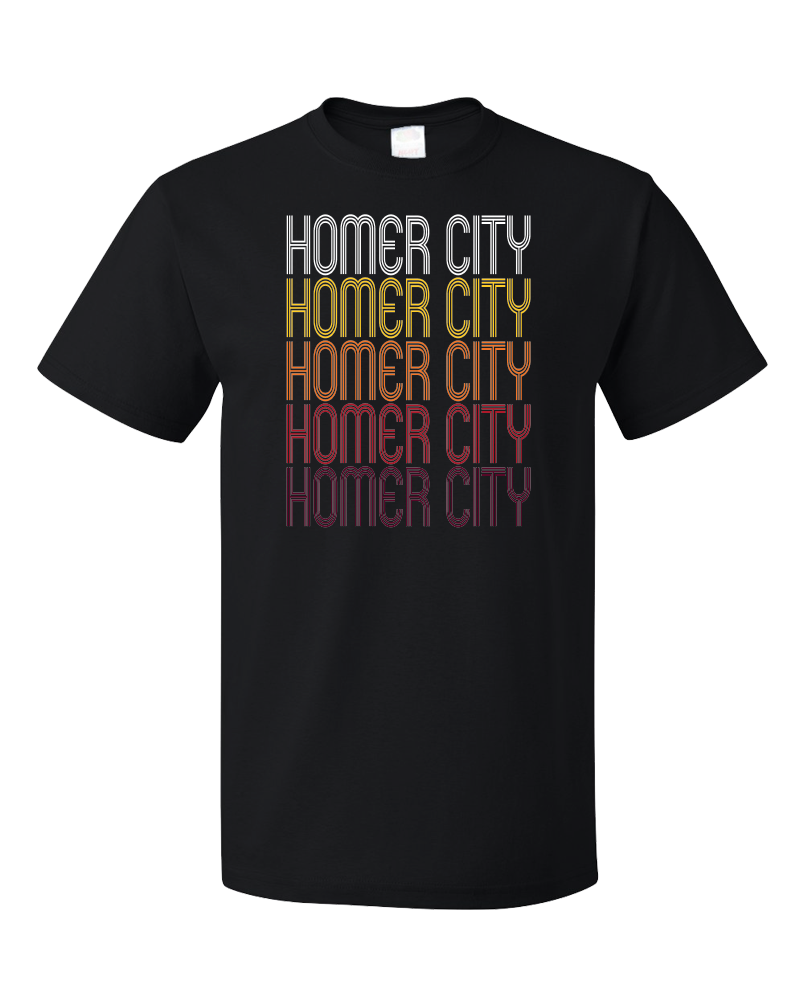 Standard Black Homer City, PA | Retro, Vintage Style Pennsylvania Pride  T-shirt