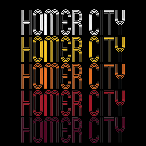 Homer City, PA | Retro, Vintage Style Pennsylvania Pride