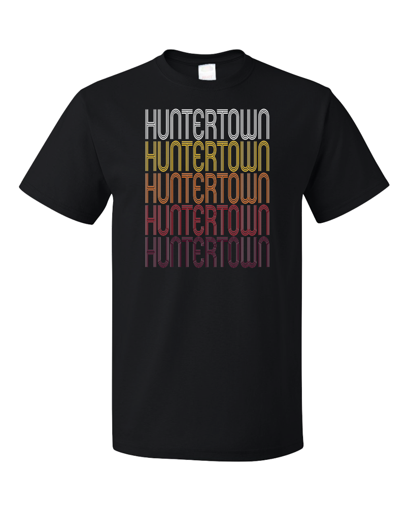 Standard Black Huntertown, IN | Retro, Vintage Style Indiana Pride  T-shirt