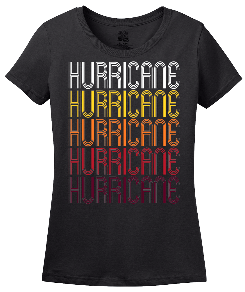 Ladies Black Hurricane, UT | Retro, Vintage Style Utah Pride  T-shirt