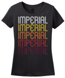 Ladies Black Imperial, CA | Retro, Vintage Style California Pride  T-shirt