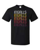Standard Black Ingalls, IN | Retro, Vintage Style Indiana Pride  T-shirt