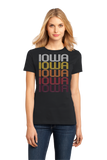 Ladies Black Iowa, LA | Retro, Vintage Style Louisiana Pride  T-shirt
