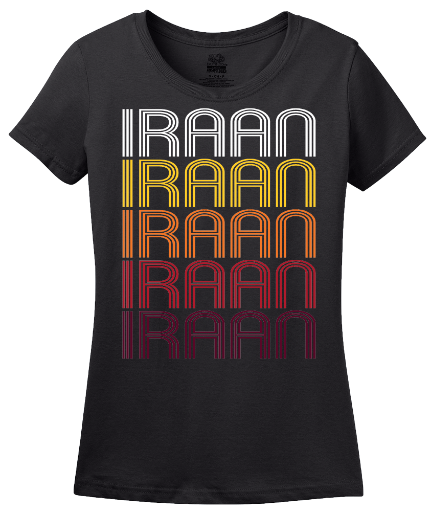 Ladies Black Iraan, TX | Retro, Vintage Style Texas Pride  T-shirt