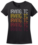 Ladies Black Irving, TC | Retro, Vintage Style  Pride  T-shirt
