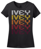 Ladies Black Ivey, GA | Retro, Vintage Style Georgia Pride  T-shirt
