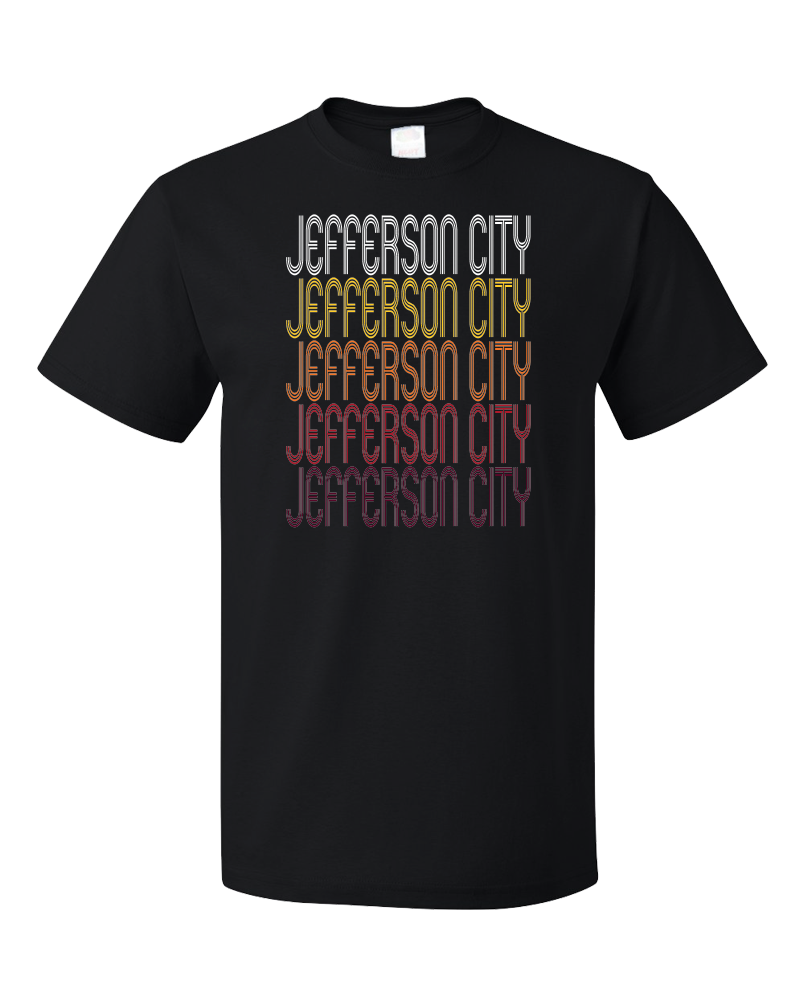 Standard Black Jefferson City, MO | Retro, Vintage Style Missouri Pride  T-shirt