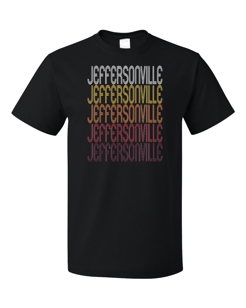 Standard Black Jeffersonville, IN | Retro, Vintage Style Indiana Pride  T-shirt