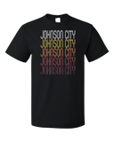 Standard Black Johnson City, NY | Retro, Vintage Style New York Pride  T-shirt