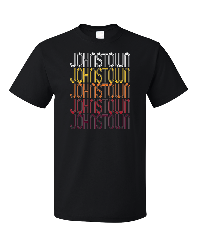 Standard Black Johnstown, OH | Retro, Vintage Style Ohio Pride  T-shirt