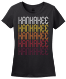 Ladies Black Kankakee, IL | Retro, Vintage Style Illinois Pride  T-shirt