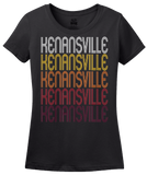 Ladies Black Kenansville, NC | Retro, Vintage Style North Carolina Pride  T-shirt