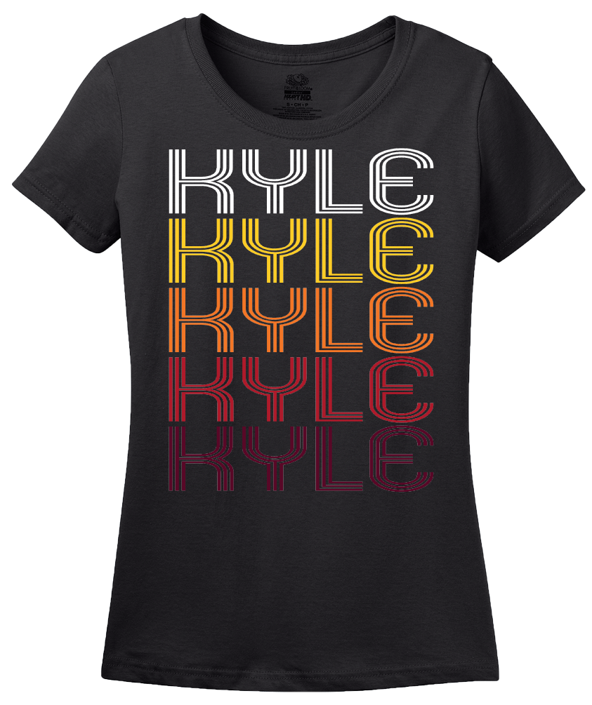 Ladies Black Kyle, TX | Retro, Vintage Style Texas Pride  T-shirt