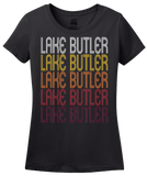 Ladies Black Lake Butler, FL | Retro, Vintage Style Florida Pride  T-shirt