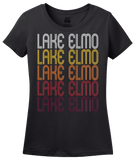 Ladies Black Lake Elmo, MN | Retro, Vintage Style Minnesota Pride  T-shirt