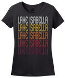 Ladies Black Lake Isabella, MI | Retro, Vintage Style Michigan Pride  T-shirt