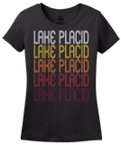 Ladies Black Lake Placid, NY | Retro, Vintage Style New York Pride  T-shirt