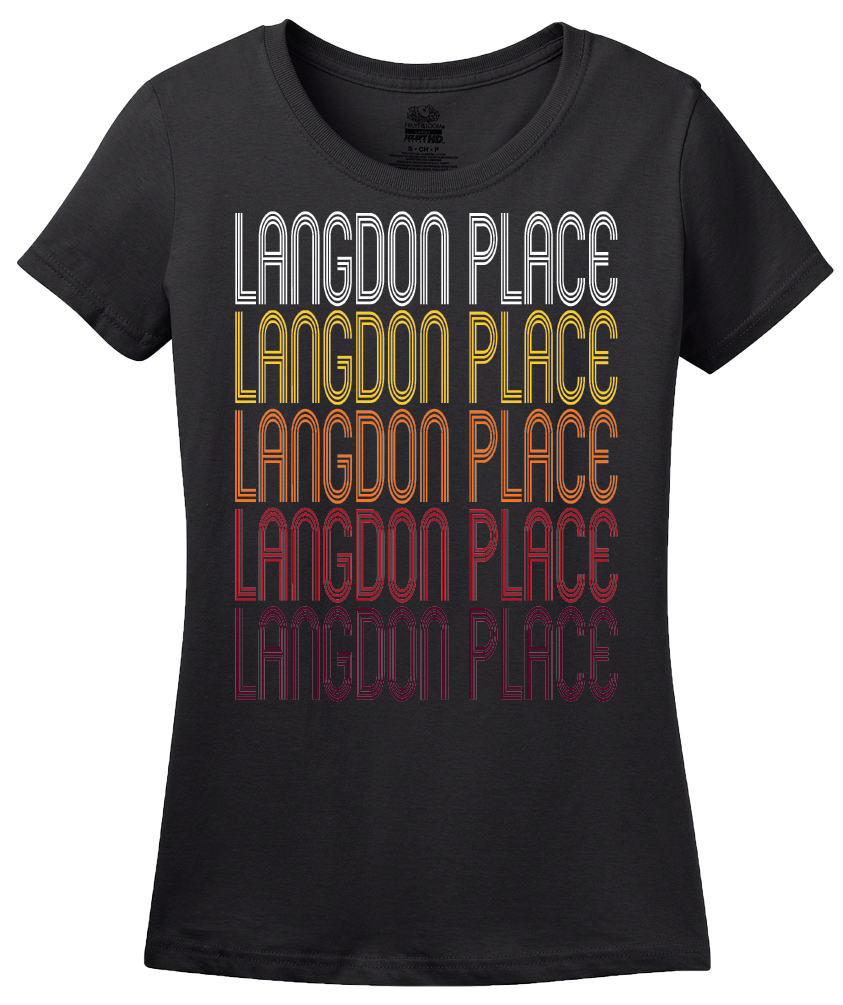 Ladies Black Langdon Place, KY | Retro, Vintage Style Kentucky Pride  T-shirt