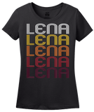 Ladies Black Lena, IL | Retro, Vintage Style Illinois Pride  T-shirt