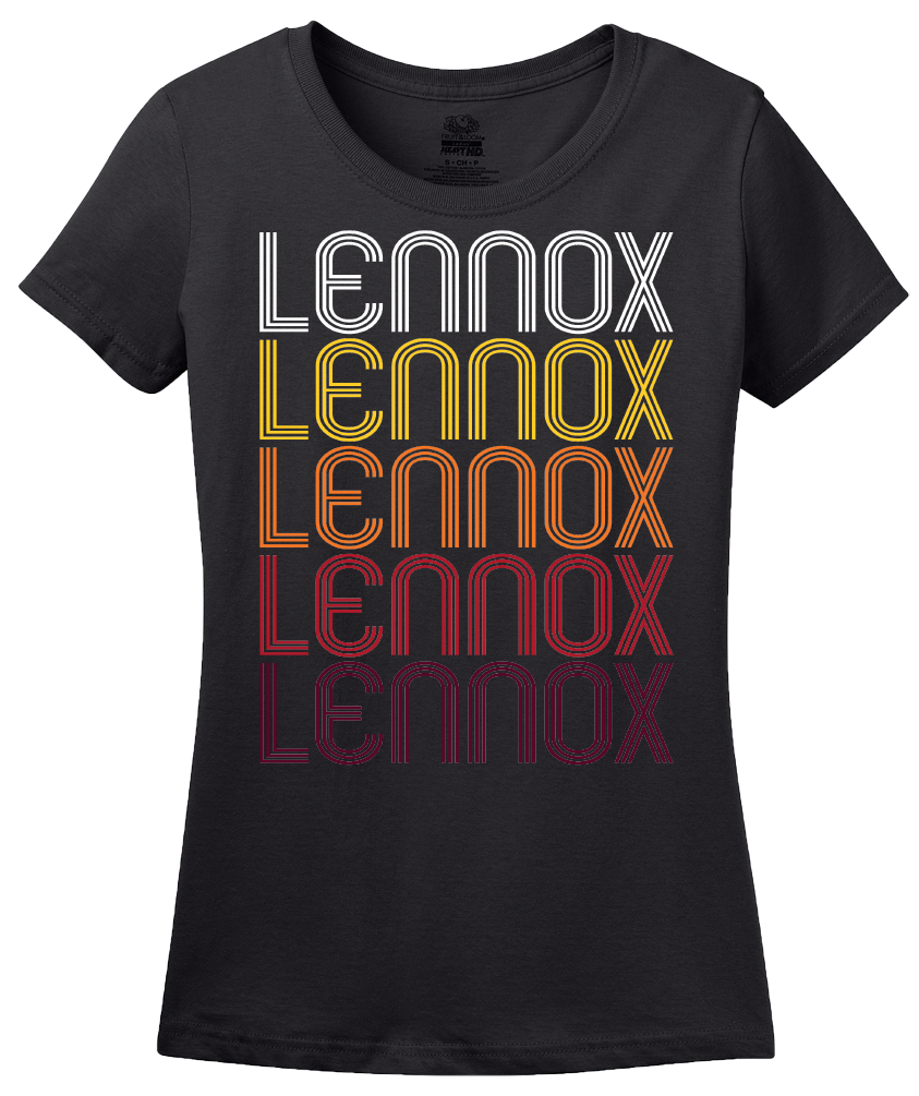 Ladies Black Lennox, SD | Retro, Vintage Style South Dakota Pride  T-shirt