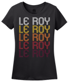 Ladies Black Le Roy, IL | Retro, Vintage Style Illinois Pride  T-shirt
