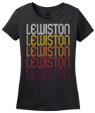 Ladies Black Lewiston, UT | Retro, Vintage Style Utah Pride  T-shirt