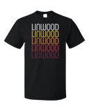 Standard Black Linwood, NJ | Retro, Vintage Style New Jersey Pride  T-shirt