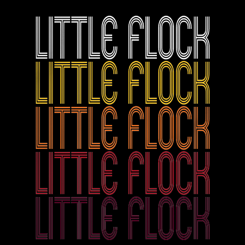 Little Flock, AR | Retro, Vintage Style Arkansas Pride