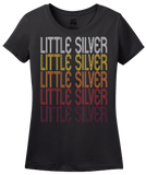 Ladies Black Little Silver, NJ | Retro, Vintage Style New Jersey Pride  T-shirt