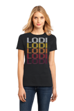 Ladies Black Lodi, OH | Retro, Vintage Style Ohio Pride  T-shirt