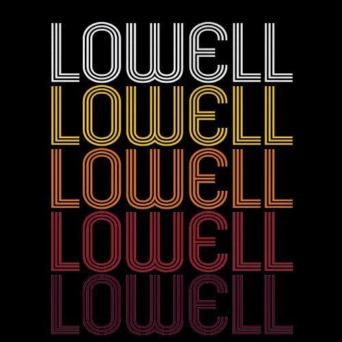 Lowell, MA | Retro, Vintage Style Massachusetts Pride