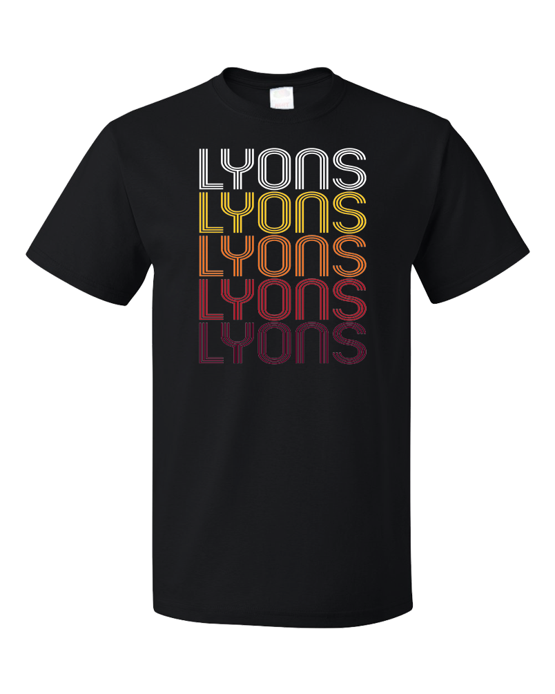 Standard Black Lyons, OR | Retro, Vintage Style Oregon Pride  T-shirt