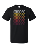 Standard Black Mandan, ND | Retro, Vintage Style North Dakota Pride  T-shirt