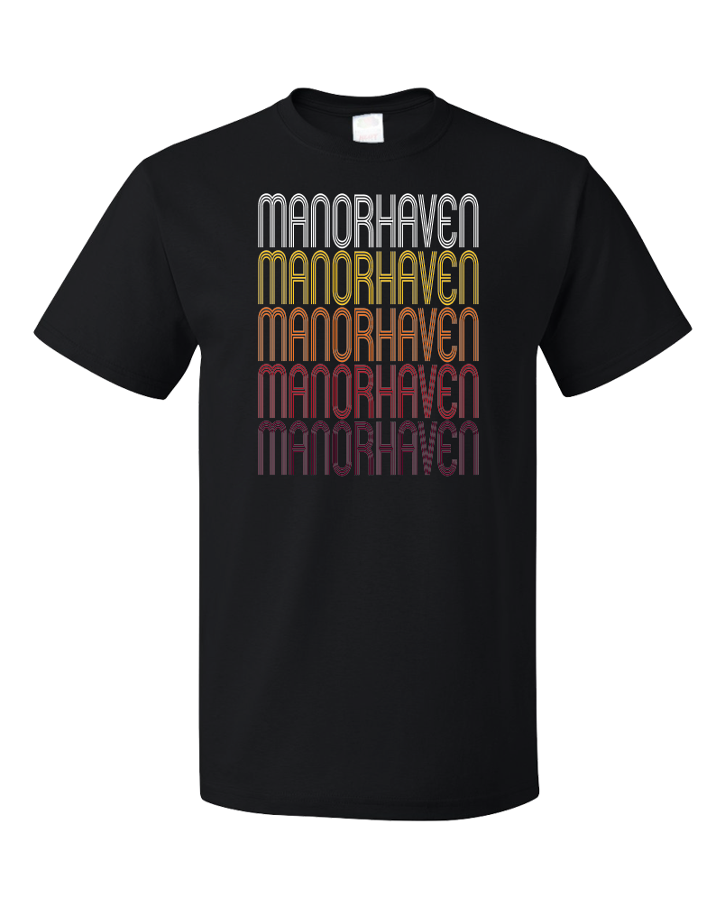 Standard Black Manorhaven, NY | Retro, Vintage Style New York Pride  T-shirt